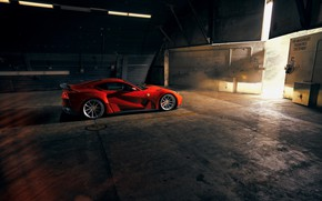 Picture hangar, lights, Ferrari, sports car, Superfast, 812, Novitec N-Largo