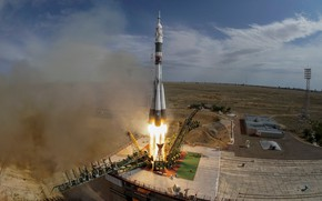 Picture Kazakhstan, Start, Baikonur, Union, Booster, Roscosmos