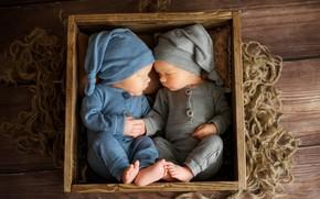 Picture children, Board, sleep, box, rope, gnomes, babies, Наталья Михайлова