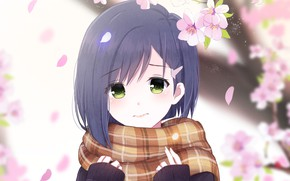 Picture flowers, spring, petals, girl, Ichigo, Darling In The Frankxx, Cute in France