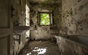 Picture window, bath, naturalism