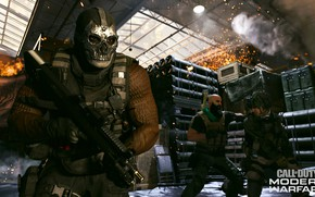Picture weapons, people, skull, man, mask, soldiers, Call of Duty, Call of Duty: Modern Warfare