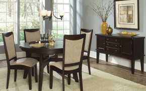 Picture table, chairs, interior, picture, dining room, serving