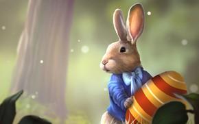 Picture nature, egg, rabbit, Easter, Alice in Wonderland