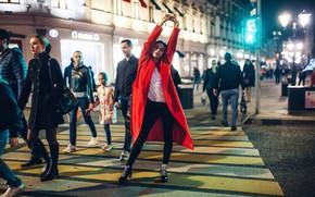 Picture girl, pose, style, mood, street, hands, coat, Rome Rome, Natalia Chuiko