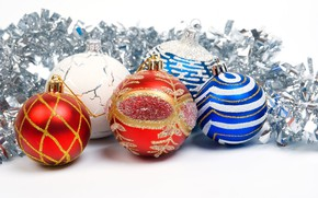 Picture balls, decoration, Christmas, tinsel