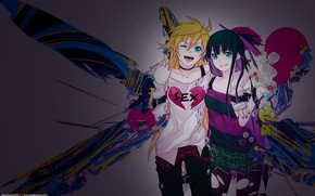 Picture girls, anime, art, Trus'ko, Chalco and the Holy podas