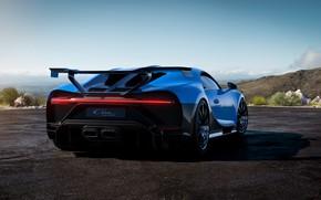 Picture Bugatti, rear view, hypercar, Chiron, 2020, Pur Sport