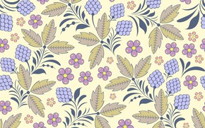 Picture flowers, background, Wallpaper, pattern, leaves, vintage