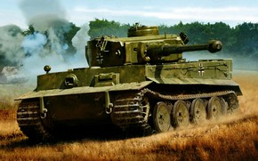Picture Tiger, Panzerkampfwagen VI, German heavy tank of the Second world war