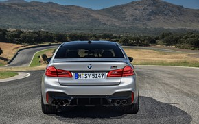 Picture grey, BMW, sedan, 4x4, 2018, feed, four-door, M5, V8, F90, M5 Competition