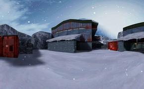 Picture snow, snow, Counter Strike, Counter Strike, CS 1.6, nuke, de_nuke_snow