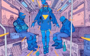 Picture Girl, Figure, Garbage, Fantasy, Art, Art, Robot, Robots, Fiction, The car, Cyborg, Cyberpunk, Cyberpunk, by …