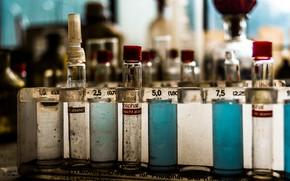 Picture macro, laboratory, tubes