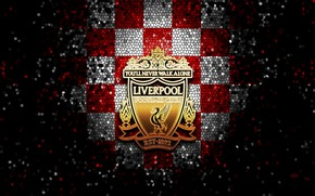 Picture wallpaper, sport, logo, football, Liverpool, glitter, checkered