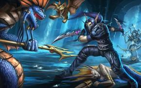 Wallpaper warrior, the battle, World Of WarCraft, Medusa