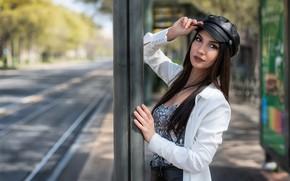 Picture look, sexy, model, hair, cap, beauty, Daniela