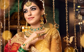Picture girl, fashion, eyes, smile, beautiful, model, lips, face, hair, pose, indian, makeup, saree, sari, traditional, …