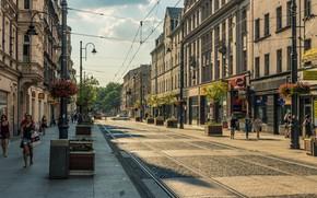 Picture Street, Tram, The way, Pedestrians