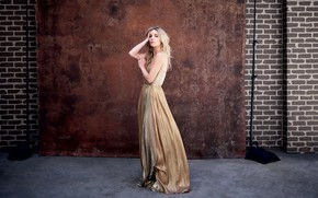 Picture look, girl, pose, dress, Annabelle Wallis