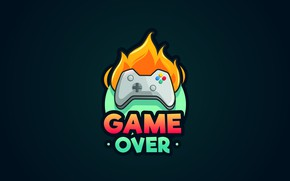 Picture fire, the game, figure, graphics, joystick, fire, game over, game