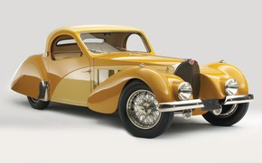 Wallpaper retro, Bugatti, 1937, Atalante, Bugatti Type 57s