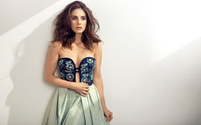 Picture look, girl, light, style, photo, hair, figure, dress, actress, beauty, Alison Brie