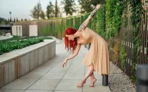 Picture dance, redhead, pose, A Diakov George