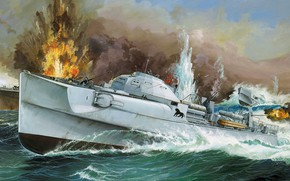 Picture Germany, torpedo boat, S-10, Fast boat, Kriegsmarine, S-Boot, Olaf Rahardt