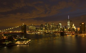 Picture night, the city, New York, USA