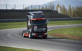 Picture race track, renault trucks, renault premium