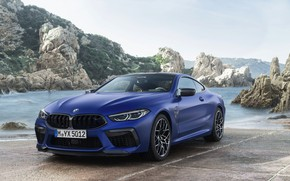 Picture shore, coupe, BMW, Parking, 2019, BMW M8, M8, M8 Competition Coupe, M8 Coupe, F92