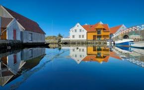 Picture Norway, houses, Rogaland, Skudeneshavn