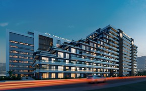 Picture the sky, building, the evening, architecture, Yamac Residence