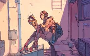 Picture Girl, Figure, Fantasy, Art, Art, Food, Robot, Robots, Fiction, Cyborg, Cyberpunk, Cyberpunk, by Josan Gonzalez, …