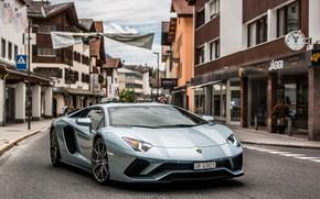 Picture Lamborghini, Street, Aventador