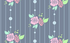 Picture grey, background, roses, texture, buds, flower, roses