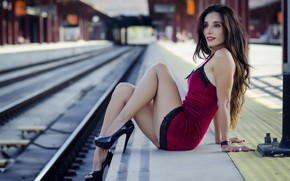 Picture girl, railroad, Mary