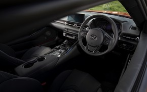Picture coupe, interior, Toyota, Supra, the fifth generation, mk5, double, 2019, UK version, GR Above, A90, …