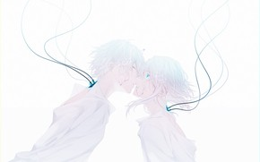 Picture sadness, girl, cracked, wire, kiss, guy, under water