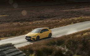 Picture road, Mercedes-Benz, speed, AMG, hatchback, UK-spec, 2020, 4MATIC+, A45 S, Aerodynamic Package