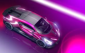 Picture Auto, Machine, Bugatti, Car, Art, Render, Design, Supercar, Neon, Supercar, Sports car, Sportcar, Synthwave, Transport …