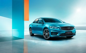 Picture blue, lights, Geely, Preface