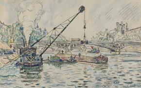 Picture figure, watercolor, 1927, Paul Signac, Paul Signac, Port Sorbonne University