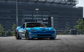 Picture Corvette, Chevrolet, ZR1, Blue, Hybrid, Forged, Series, Wheels, CCW, HSP2K