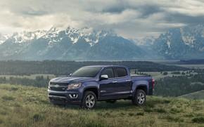 Picture forest, mountains, Chevrolet, Colorado, Z71, Centennial Edition