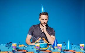Picture look, cake, male, Chris Pratt