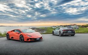 Picture the sky, water, machine, Lamborghini, Evo, Huracan