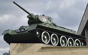 Picture medium tank, The great Patriotic war, T-34.76