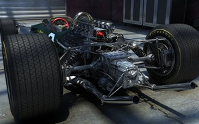 Picture rendering, engine, Lotus, tires, sports car, the car